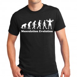 T-shirt homme Musculation Evolution