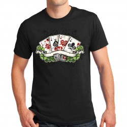 T-shirt homme Bikers Moto Cartes