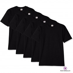 Lot de 5 T-shirt homme manche courte noir
