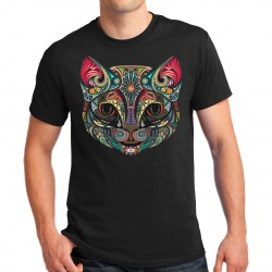T-shirt homme motif Chat Couleur