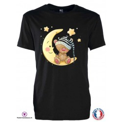 T-shirt Enfant motif Ourson lune