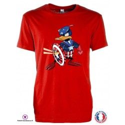 T-shirt Enfant motif Donald Captain America